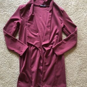 Burgundy Duster: Boohoo